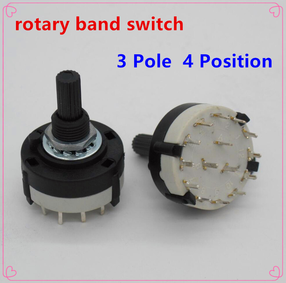 2pcs High quality RS26 3 Pole Position 4 Selectable Band Rotary ...