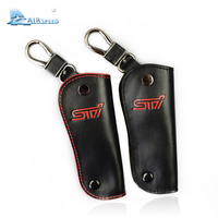 Airspeed Leather Car Key Case STI Key Cover Protection For Subaru Forester XV Outback Key Chain