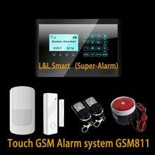 Беспроводной GSM Сенсорной Клавиатурой Inturder Сигнализация противоугонная Сигнализация