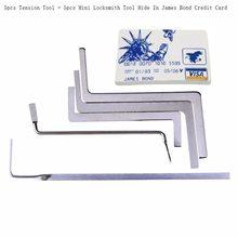 Darmowa wysyłka nowe narzędzia ślusarskie 2 w 1 James Card Tools i 5 sztuk wytrych do zamków narzędzia napinające narzędzie tanie narzędzia ślusarskie