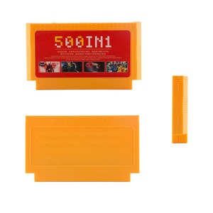 Image 4 - 500 trong 1 Túi Thẻ Trò Chơi Cổ Điển 8 Bit Tay Cầm Lớn Màu Vàng Siêu Game Hộp Mực Mega Xe Đẩy Bộ Sưu Tập 60 chân Người Chơi Games