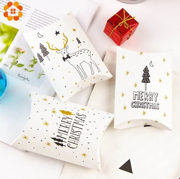 1Set Deer&Santa Claus Merry Christmas Candy Gift Boxes Guests Packaging Boxes Gift Bag Christmas Party Favors Kids Gift Decor 1