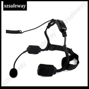 Image 4 - سماعات رأس تكتيكية توصيل عظمة عسكرية مع ميكروفون بوم لراديو كينوود باوفينج UV 5R Wouxun اتجاهين