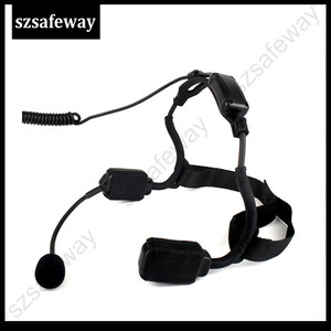 Image 4 - צבאי עצם הולכה טקטי אוזניות אוזניות עם בום מיקרופון עבור Kenwood Baofeng UV 5R Wouxun שתי בדרך רדיו