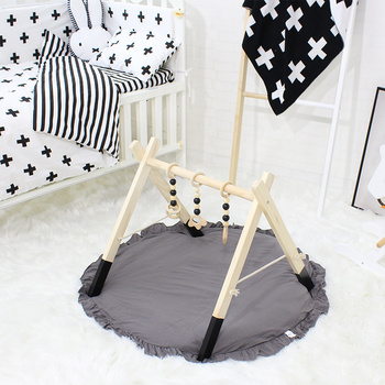 Nordic Baby Activity Gym Frame With Mobiles For Newborns Baby Room Decor Wooden Early Educational Toys Photography Prop 1