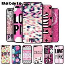 Babaite Brand NEW Victoria LOVE PINK Phone Cases Soft Silicone Capa for Apple iPhone 8 7 6 6S Plus X XS MAX 5 5S SE XR Cover(China)