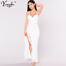 Sexy Red White Lace Summer Dress women elegant Backless maxi long Party dress Nightclub vintage bodycon Dresses clothes vestidos недорого