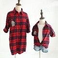 Mãe e duagther camisa de harmonização da família dos desenhos animados outfits camisa blusa xadrez para meninas e mãe linda fasmily match clothing