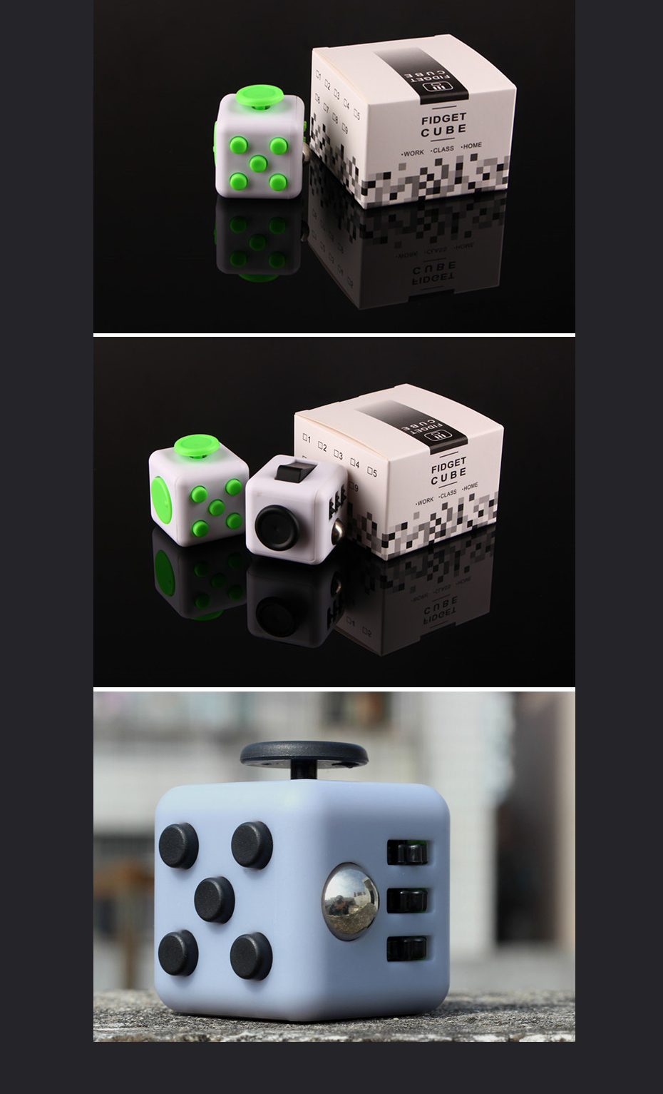 %name 11 Colors Fun Fidget Cube Toy Dice Anxiety Attention Anti stress
