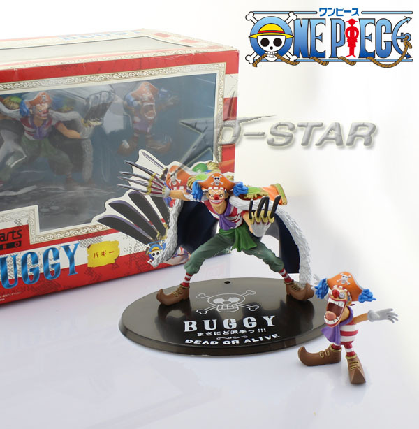 ФОТО Free Shipping Funny 6pcs One Piece New Shichibukai Buggy the Star Clown with Small Clown Boxed PVC Action Figures Model Toy Gift