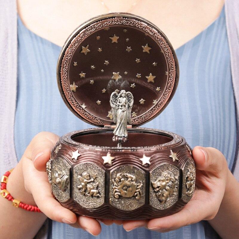 Boîte à musique Antique créative carrousel boîte à musique château dans le ciel cadeau d'anniversaire pour petite amie cadeau de nouvel an cadeau de noël
