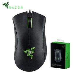 Originale Razer DeathAdder Essenziale Wired Gaming Mouse Mouse 6400DPI Sensore Ottico 5 Bottoni In Modo Indipendente Per Il Computer Portatile Del PC Gamer