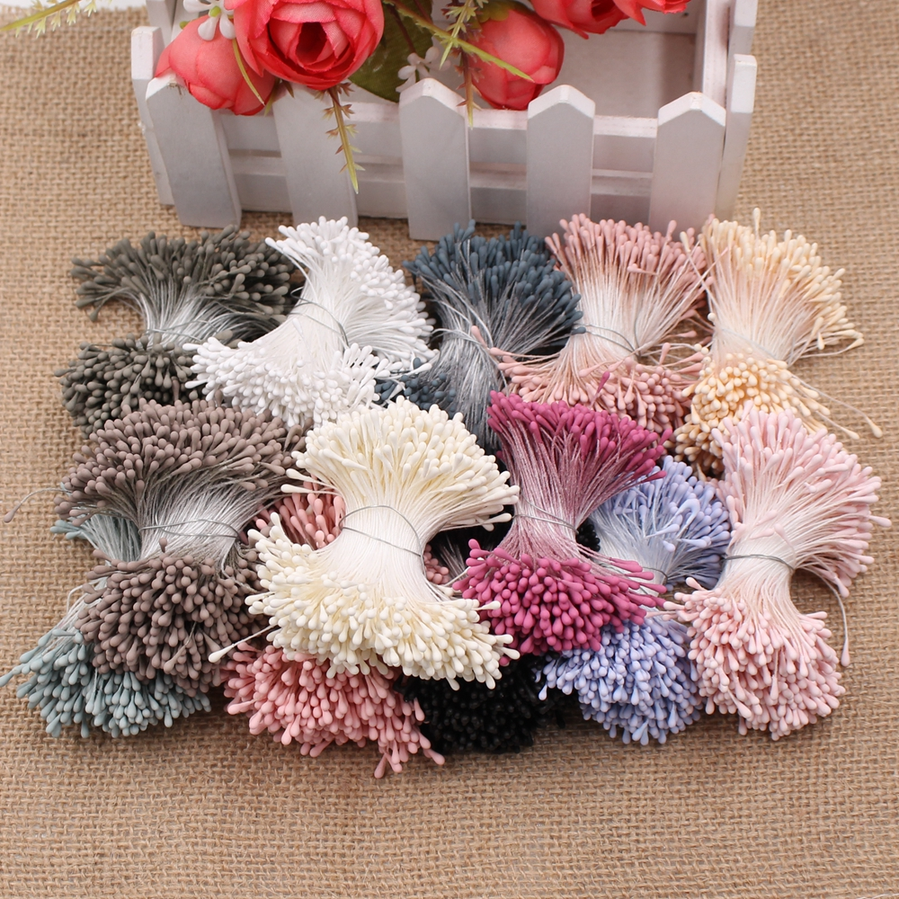 MENGHAO 400pcs 1.5mm Mini Artificial Flowers For Wedding