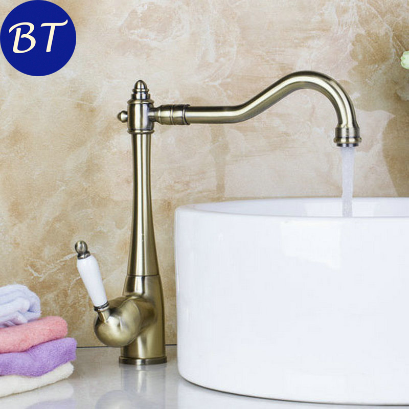 DE Stock 5 Years Warranty Antique Brass K sink basin hot and cold Mixer Tap rotating