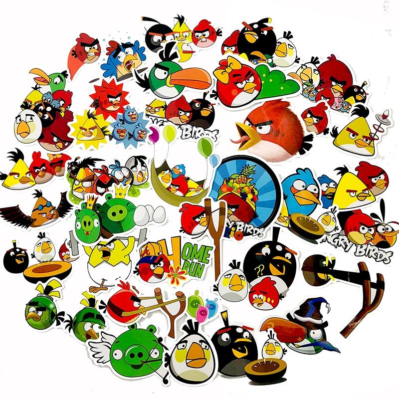 100 шт. мультфильм серии игры Angry Red Bird игрушка для птиц стикер для скейтборда гитары мотоцикла DIY багаж грузовик