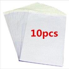 10 ชิ้น/เซ็ต TATTOO Stencil คาร์บอนความร้อน Tracing Hectograph Transfer กระดาษสำเนา