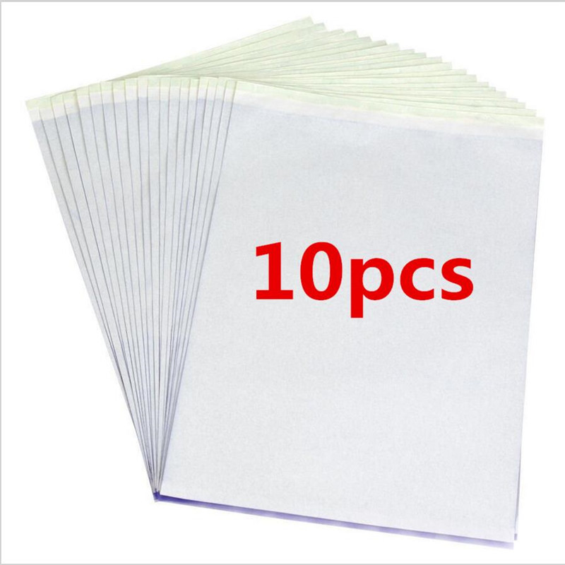 10pcs/set Tattoo Stencil Carbon Thermal Tracing Hectograph Transfer Copy Paper 10pcs usa import tattoo thermal paper stencil carbon stuff tattoo equipment 3 layer free shipping