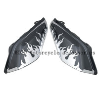 Air Deflectors with Chrome Flame decals For Touring Street Glide Street Glide FLHX Road King FLHR ABS Motorcycle Air Deflectors