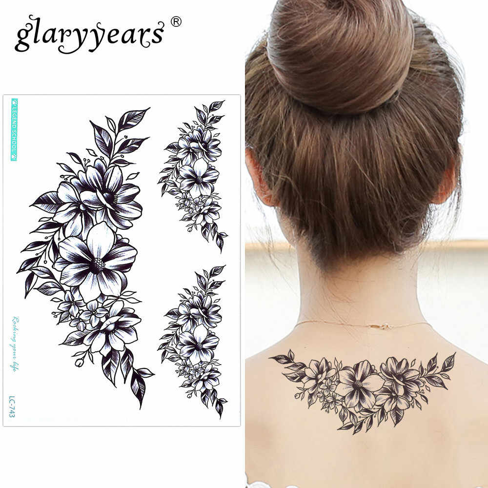 11937d72e Detail Feedback Questions about Glaryyears 15*21cm Temporary Tattoo Sticker  Pretty Fake Tatoo Bloom Flash Tatto Waterproof Small Body Art Men Women 24  ...