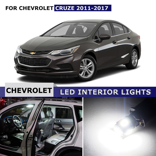 12x For Chevrolet Cruze 2011 2017 Car LED Lights Interior Package ...