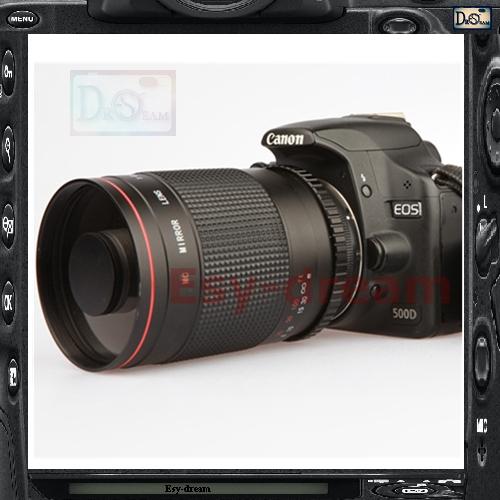 Prix pour Manuel 500mm F8 Miroir Reflex Téléobjectif pour Canon EOS DSLR Caméra 70D 60D 7D 7D2 700D 650D 1200D 100D PA042