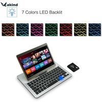 7 Color Backlit Wireless Universal Keyboard For IOS Android W Hidden Stand Aluminum Bluetooth Keyboard For