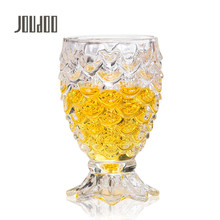 JOUDOO Creative Mermaid Shape Wine WaterCups Transparent Glass Home Drinkware Beer Bottle for Bar Party Christmas 35