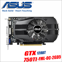 Asus GTX 750TI OC 2GB GTX750TI GTX 750 TI 750 2G D5 DDR5 128 Bit PC Desktop Graphics Cards PCI Express 3.0 computer video 1050ti