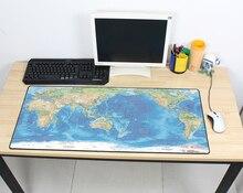 Gaming mousepad world map 900x400x3mm DIY XL Large mouse pad gamer with edge locking mousepad ergonomic gadget office desk mats