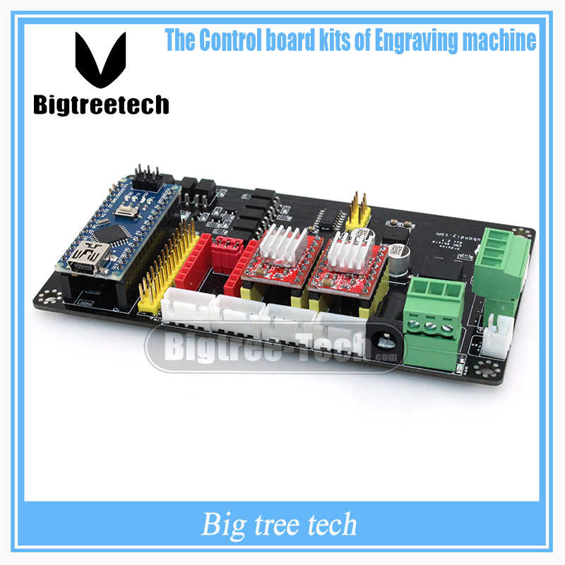 CNC Engraving Electronic Control Panel Three Axis Stepper Motor Drive Controller Motherboard with A4988 & Nano 3.0