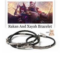 LoL Bracelet 925 Silver Rakan And Xayah Bracelets for Women Men Couples Cosplay Charms Jewelry Christmas Gift Free with Gift