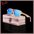 2017 new fashion productos hombres mujeres madera vidrio uv400 lente polarizada gafas de sol retro de madera marco de madera hecho a mano envío gratis
