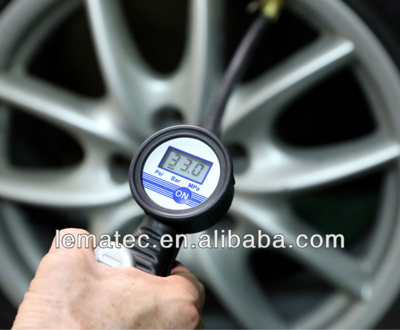 LEMATEC Digital Tire Inlfator With Gauge Air Pressure Gauge Tire Inflating Tire Repair Tools