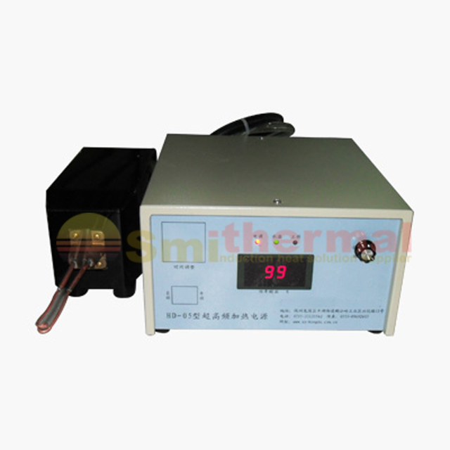 5KW 220V 500 KHZ 1100 KHZ HDG 5 calentamiento por inducción de alta frecuencia súper para soldadura de piezas pequeñas