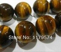 Thermique en gros et au détail Belle 14mm Africaine Roar Oeil de Tigre Pierre Rondes En Vrac Perles Pour Collier Bracelet AA + 15