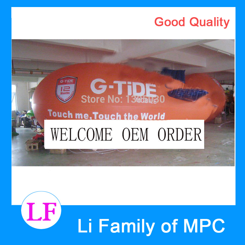 8m(26ft) Long Large Inflatable Advertising Zeppelin/Inflatable Blimp for Your Events/Can put on your LOGO hb15 wholesale price pvc 3m long inflatable airplane airship blimp zeppelin with tail black air plane