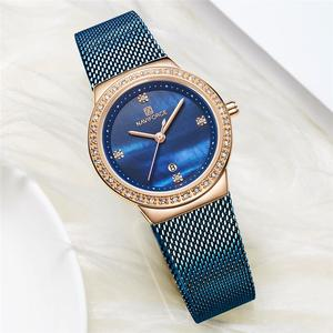 Image 3 - NAVIFORCE Fashion Brand Female Quartz Watch Stainless Steel Mesh Belts Elegant Ladies Watches Creative Luxury Dial Reloj Mujer
