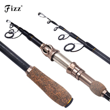 Top Grade Telescopic Spinning Fishing Rod High Carbon Fiber Pole Stainless Steel Reel Seat Fishing Rod 1.8 / 2.1 / 2.4 / 2.7 m