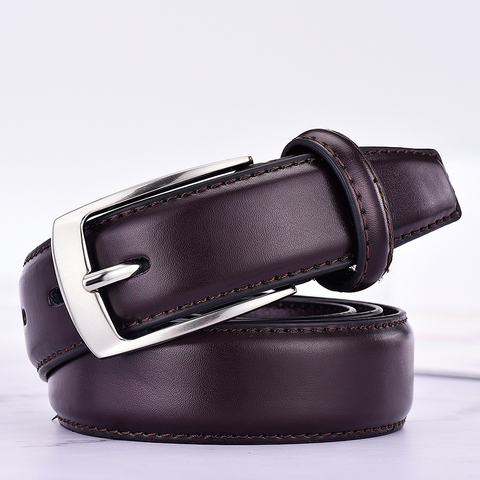 Classic Leather Belt For Men Luxury Business Male Cowhide Leather Belts 3.0 CM Casual Pin Buckle Belt For Men Dropshipping Islamabad