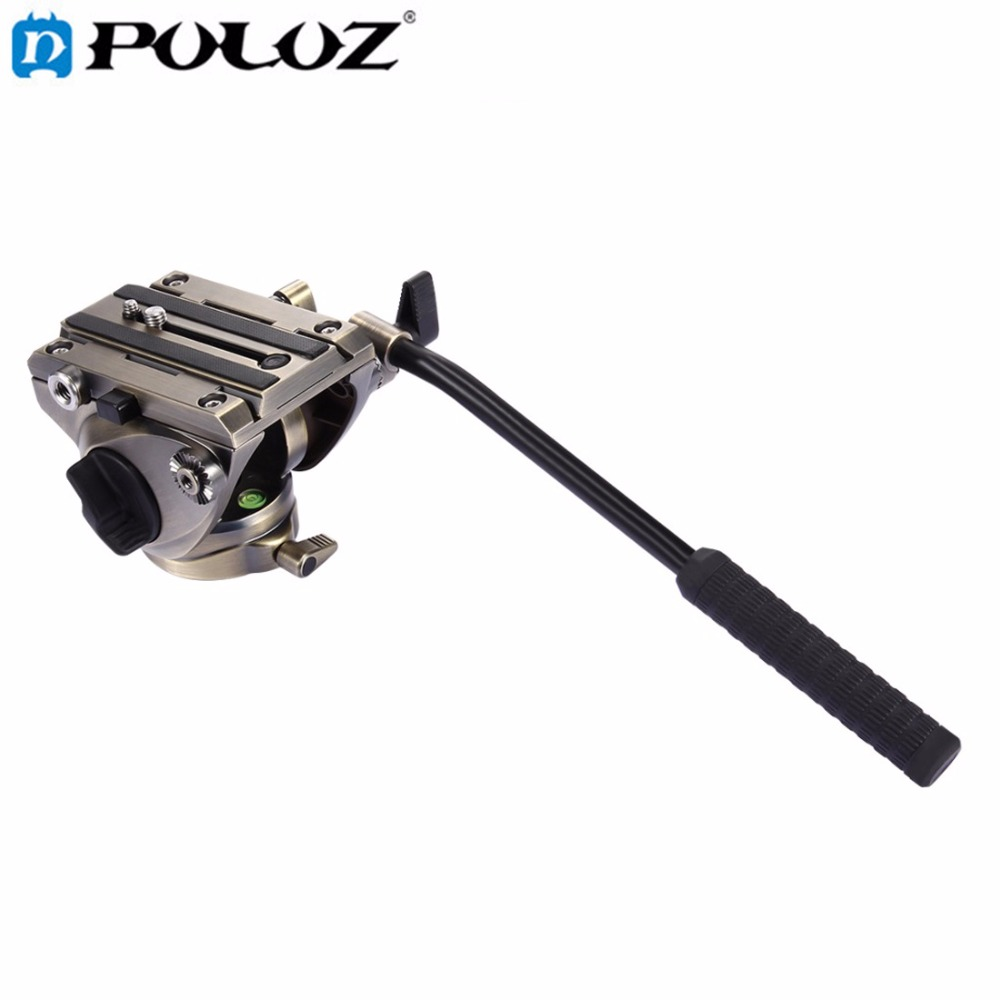 PULUZ VideoTripod Head & Quick Release Sliding Plate for SLR Cameras Camcorder Hydraulic Panoramic Head for Slider Monopod DSLR