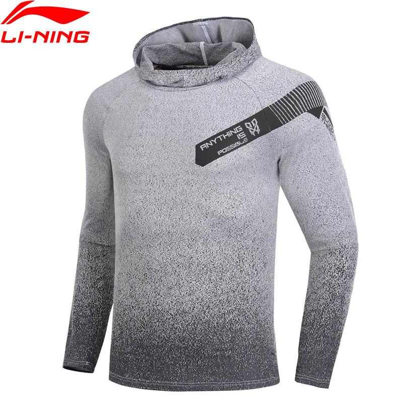 Li Ning Men Basketball Series Long Sleeve T shirts Slim Fit Gradient Color Comfort LiNing Sports