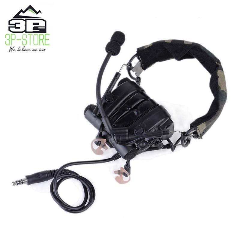 Comtac IV Headphones Noise Canceling Aviation Headset Combat comtac Tactical Helmet WZ038