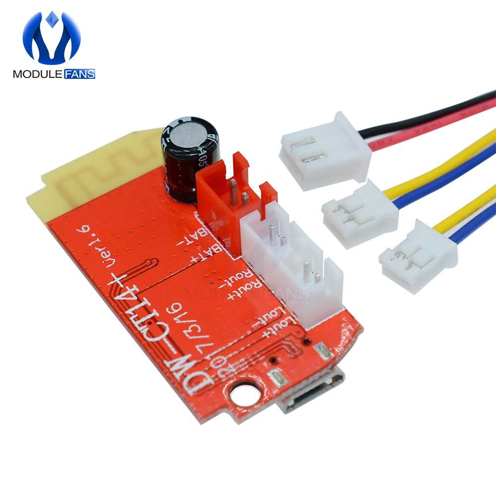 لوحة مكبر الصوت الرقمي DC 3.7V 5V 3W لوحة مزدوجة بلوتوث تعديل الصوت وحدة الموسيقى مايكرو USB DIY