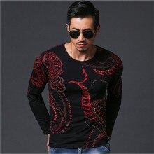 Men'S T-Shirt Long Sleeve Tshirt For Men Fashion Printing Men's Tshirt Cotton Sweater O-Neck Collar Tshirt Mens A2050