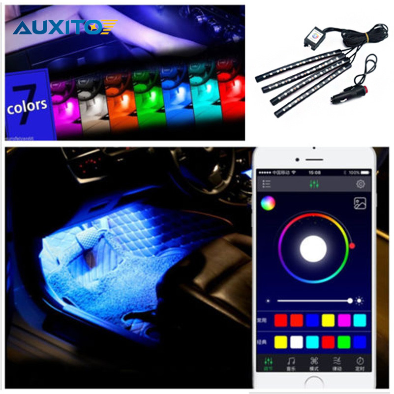 Car Interior RGB LED Strip Light Atmosphere Decoration Lamp For Mercedes W211 W203 W204 W124 AMG W220 W212 W163 W221 W201 W126 auto fuel filter 163 477 0201 163 477 0701 for mercedes benz