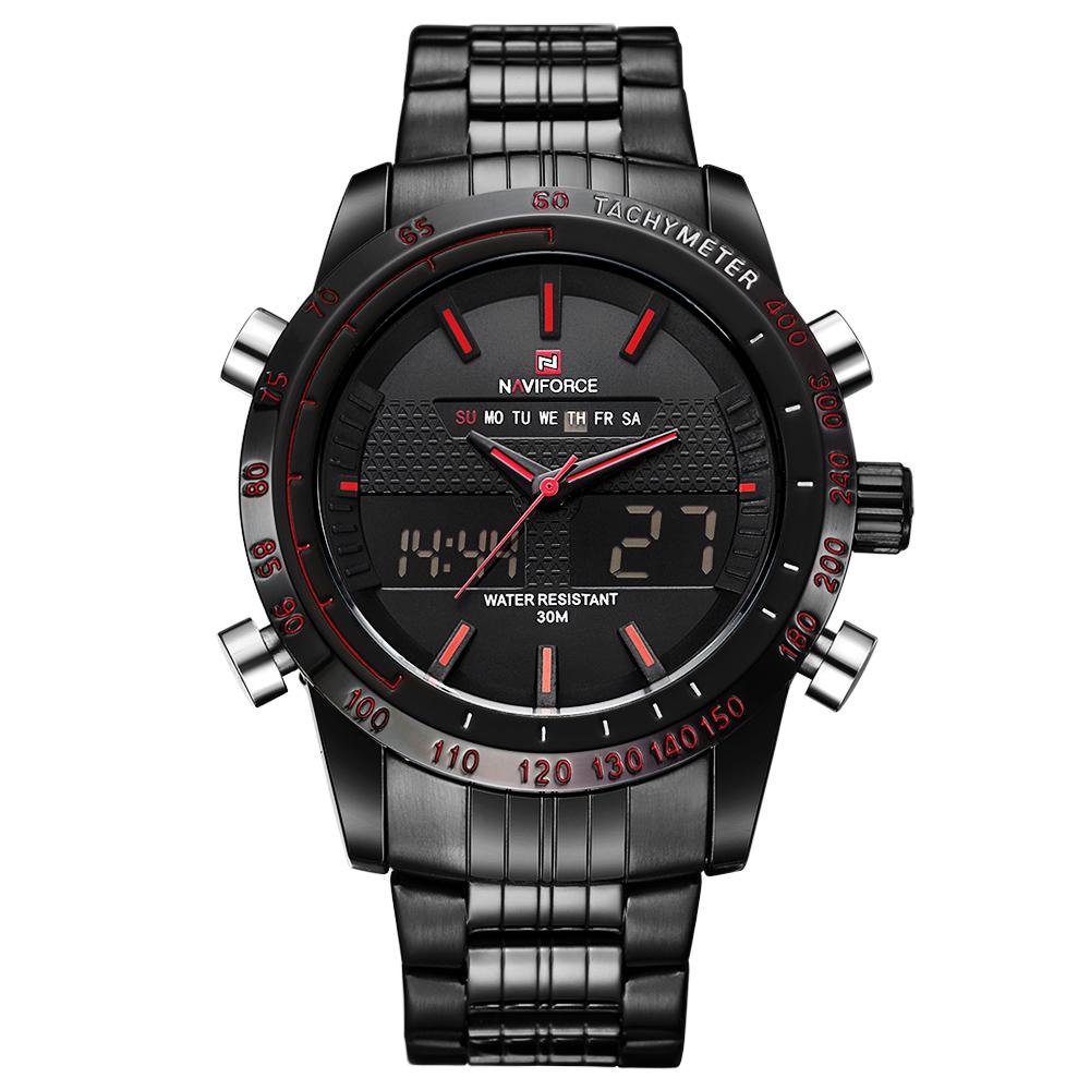 Prix pour Montres Hommes Top Marque De Luxe Naviforce Étanche Date Horloge Mâle En Acier Plein Occasionnel Quartz Sport Montre-Bracelet Relogio Masculino