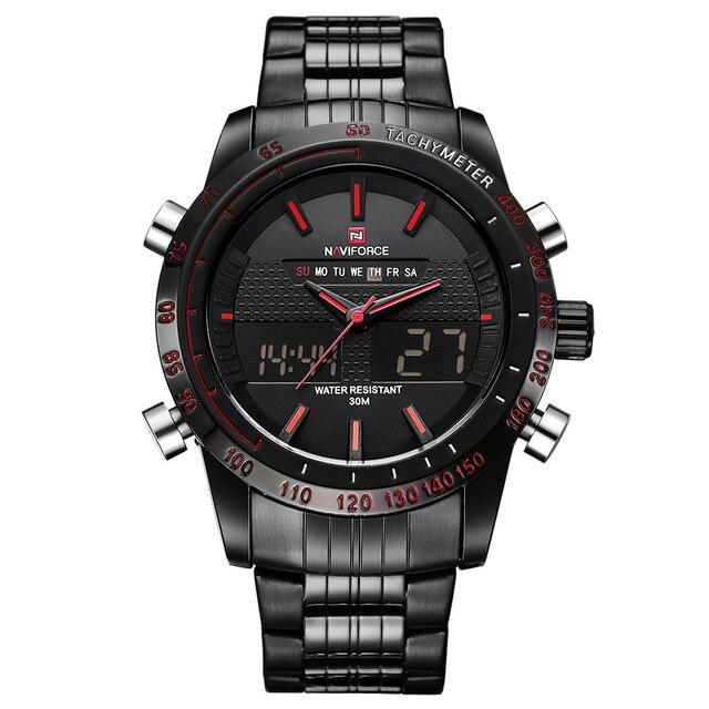 5407ee65879 Relógios Homens Top de Luxo Da Marca Naviforce Data Relógio À Prova D  Água  do