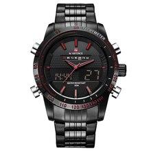 Relojes de Los Hombres Top Luxury Brand Naviforce Fecha Impermeable Reloj de Acero Llena Masculino Ocasional Del Deporte Del Cuarzo Reloj de Pulsera Relogio masculino