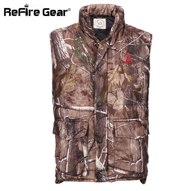 Erkek Kıyafeti'ten Jileler ve Yelekler'de Kış sıcak Kamuflaj Yelek Erkekler Termal Pamuk yastıklı Orman Camo Giysileri Taktik Askeri Kolsuz Ceket Kalınlaşmak Yelek'da  Grup 1