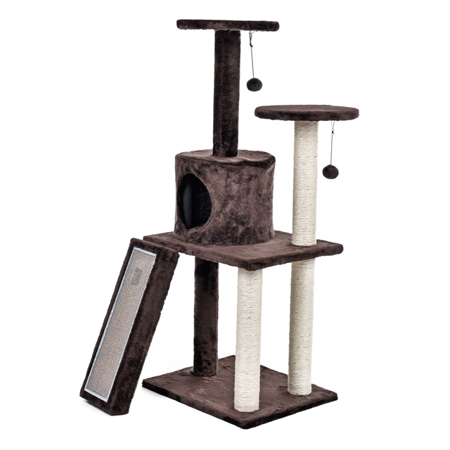Fast Delivery Luxury Cat Tree House Pet Cat Scratch Board Scratching Toy  Ball Sisal Scratch Post